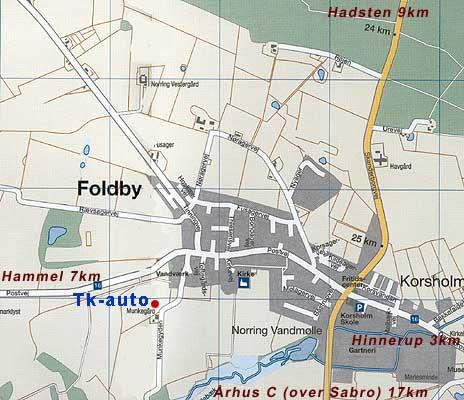 Tk Auto Kort Over Foldby